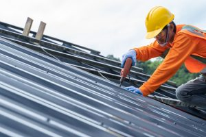 professional metal roofing with safety